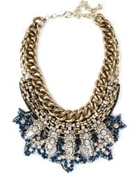 Night Market - Blue Crystal Bead Necklace - Lyst