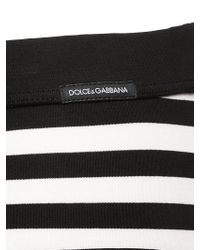 Dolce & Gabbana Black Brando Striped Stretch Jersey Briefs