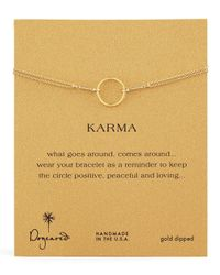 Dogeared | Metallic Original Karma Ring | Lyst