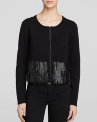 Nanette Lepore Black Sweater - Fierce Fringe Cardigan