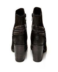 Moda In Pelle Black Bria Medium Casual Short Boots