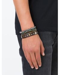 DIESEL - Brown Multi Strand Bracelet for Men - Lyst