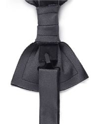 Lanvin - Gray Double Layer Silk Bow Tie for Men - Lyst