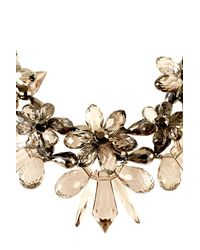 Coast - Gray Floral Necklace - Lyst