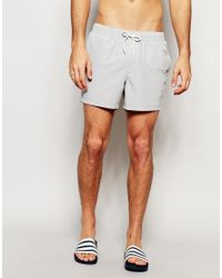 ASOS | Gray Swim Shorts In Light Grey Short Length for Men | Lyst