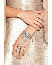 Forever 21 | Metallic Rhinestone Medallion Hand Chain | Lyst
