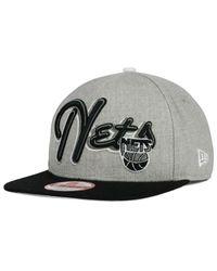 KTZ - Black New Jersey Nets Hwc The Heather Bright Nights 9fifty Snapback Cap for Men - Lyst
