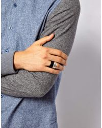 ASOS - Black Ring Pack with Cutout for Men - Lyst