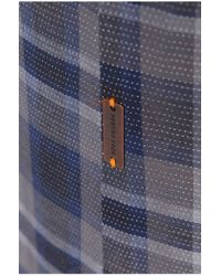 BOSS Orange - Blue 'califoe' | Slim Fit, Cotton Button Down Shirt for Men - Lyst