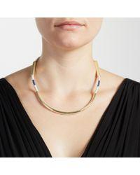 John Lewis Blue Stripe Scoop Necklace