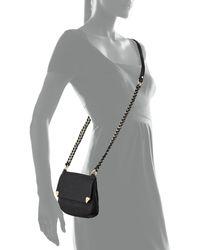 Foley + Corinna - Black Unchained Leather Crossbody Bag - Lyst