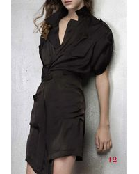 A.F.Vandevorst   Black Drift Dress   Lyst
