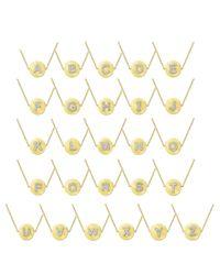 KC Designs | 14k Yellow Gold Diamond Disc Initial Bracelet | Lyst
