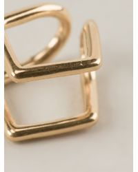 Coops London | Metallic 'kite' Squeeze On Earrings | Lyst