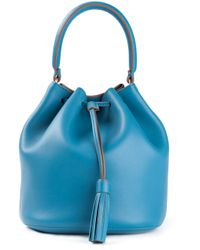 Anya Hindmarch Blue The Vaughan Cross Body Bag