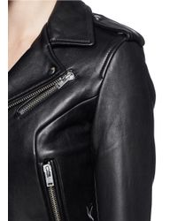 IRO Black 'chaya' Leather Biker Jacket