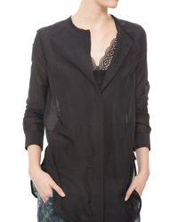 Raquel Allegra | Black Buttondown Shirt | Lyst