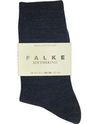 Falke | Blue Softmerino Socks | Lyst