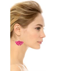 Aurelie Bidermann - Pink Ginkgo Leaf Earrings - Pivoine - Lyst