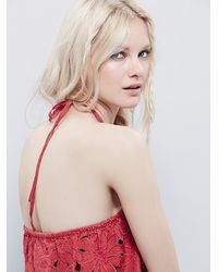 Free People | Red Womens Daisy Cutwork Tube | Lyst