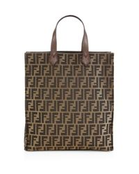 Fendi   Brown Signature Monogram Shopping Bag   Lyst