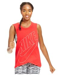 Nike Red Signal Muscle Tank