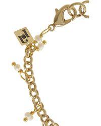 Rosantica - Metallic Carmen Golddipped Freshwater Pearl Finger Bracelet - Lyst