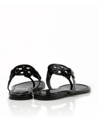 Tory Burch | Black Miller Sandal, Patent Leather | Lyst
