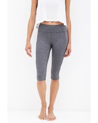 Forever 21 - Gray Reflective-trimmed Performance Capris - Lyst