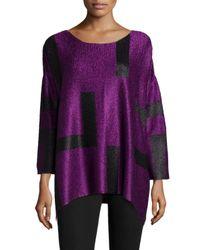 Berek | Purple 3/4-sleeve Abstract Pullover Tunic | Lyst