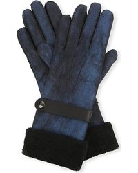 Causse Gantier - Blue Venitien Shearling Gloves - Lyst