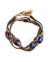 Lulu Frost | Black Scarab Wrap Bracelet | Lyst