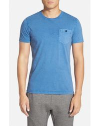 French Connection Blue Pocket T-Shirt for men