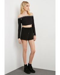 Forever 21 | Black This Is A Love Song Off-the-shoulder Crop Top | Lyst