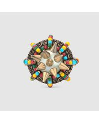 Gucci - Multicolor Ring With Spikes And Beads - Lyst