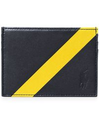 Polo Ralph Lauren | Blue Leather Banner-stripe Card Case for Men | Lyst