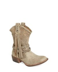 Matisse | Natural 'rawhide' Slouchy Western Boot | Lyst