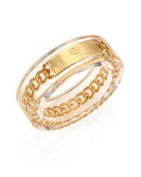McQ Metallic Plexi Chain Bangle Bracelet