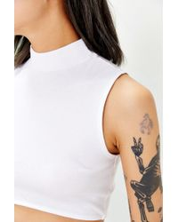 Truly Madly Deeply | White Mocturnal Cropped Tank Top | Lyst