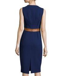 Michael Kors - Blue Two-Toned Sheath Dress - Lyst