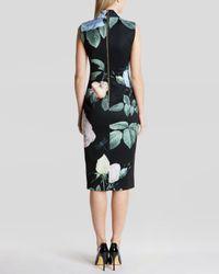 Ted Baker | Black Dress - Ravina Distinguished Rose | Lyst
