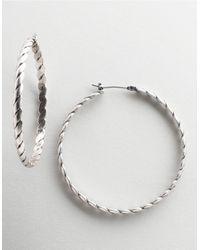 BCBGeneration Metallic Rope-detail Hoop Earrings