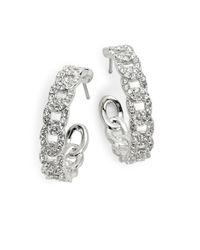 Nadri | Metallic Pave Link Hoop Earrings | Lyst