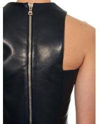 Balmain Black Cropped Leather Top