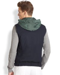 Ferragamo | Blue Reversible Nylon Quilted Vest for Men | Lyst