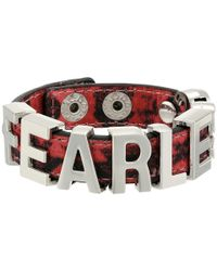 BCBGeneration | Red Printed Fabric Affirmation Fearless Bracelet | Lyst