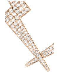 Anita Ko - Metallic Lightning Bolt 18karat Rose Gold Diamond Necklace - Lyst