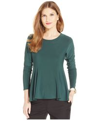 Cece by Cynthia Steffe | Green Long-sleeve Peplum Top | Lyst