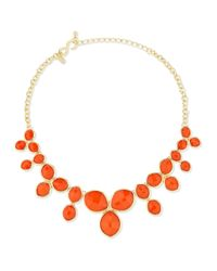 Kenneth Jay Lane | Metallic Cluster Bib Necklace | Lyst