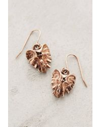Anthropologie | Metallic Rose Gold Elephant Drop Earrings | Lyst